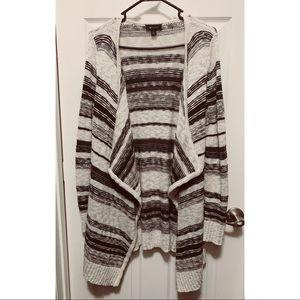 Stripe Waterfall Sweater